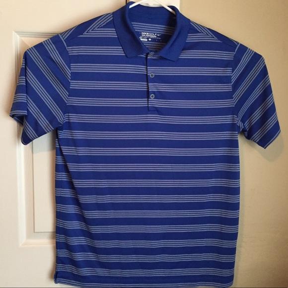 c29320f0 Nike Shirts | Golf Tour Performance Drifit Blue Stripes | Poshmark